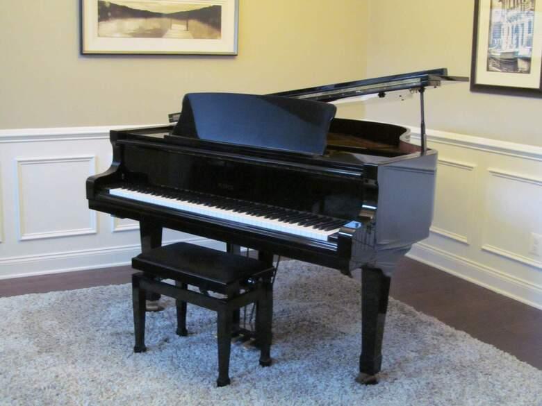 Petrof Grand Piano - Like New, Polished Black w/ Pianomation