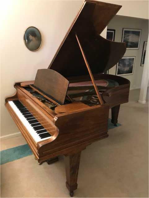 C. Bechstein V grand piano