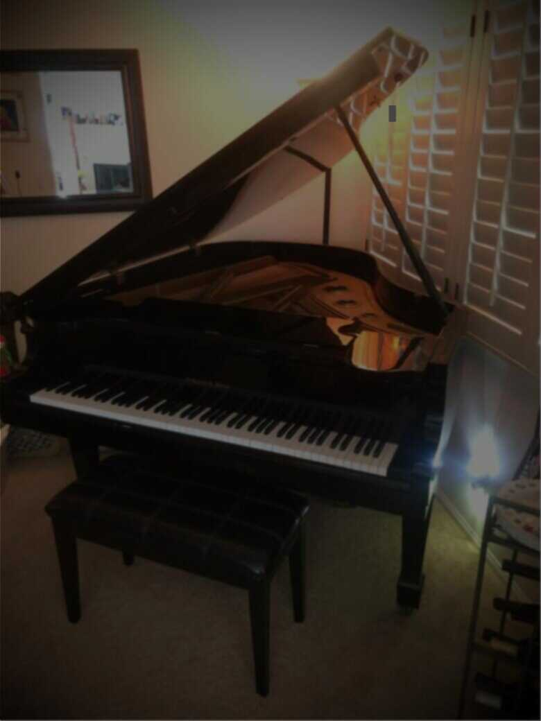 Beautiful Black Lacquer Baby Grand