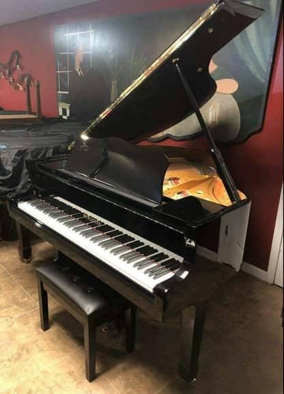 "2021 Black NEW High Gloss Grand Piano 4' 9"", High Quality"