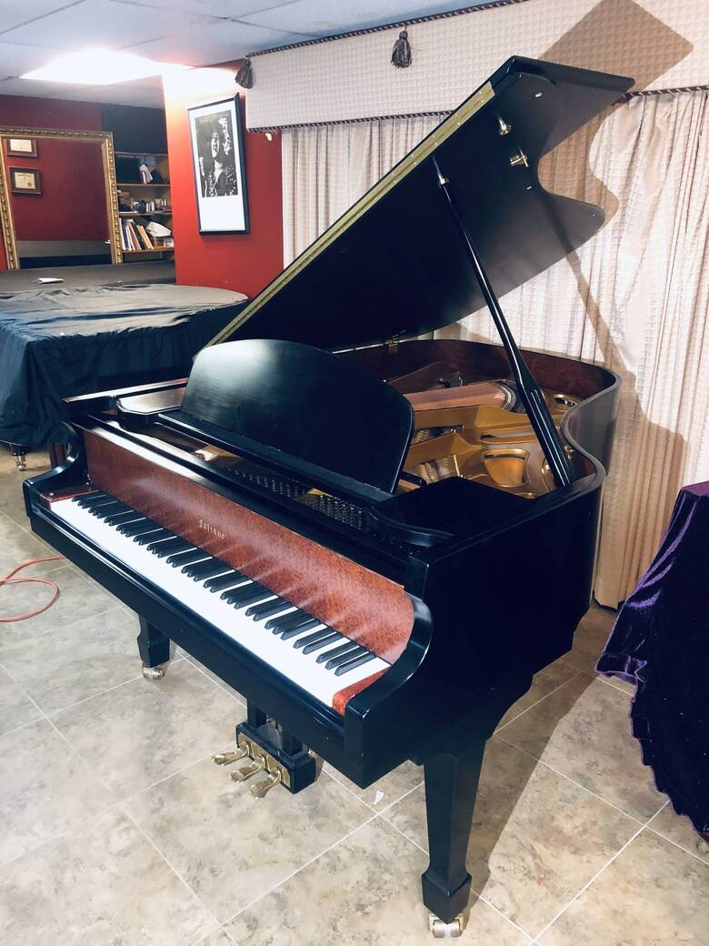 """Concert Sounding Falcone 6' 3"""" Grand Piano and Steinway Benc"""