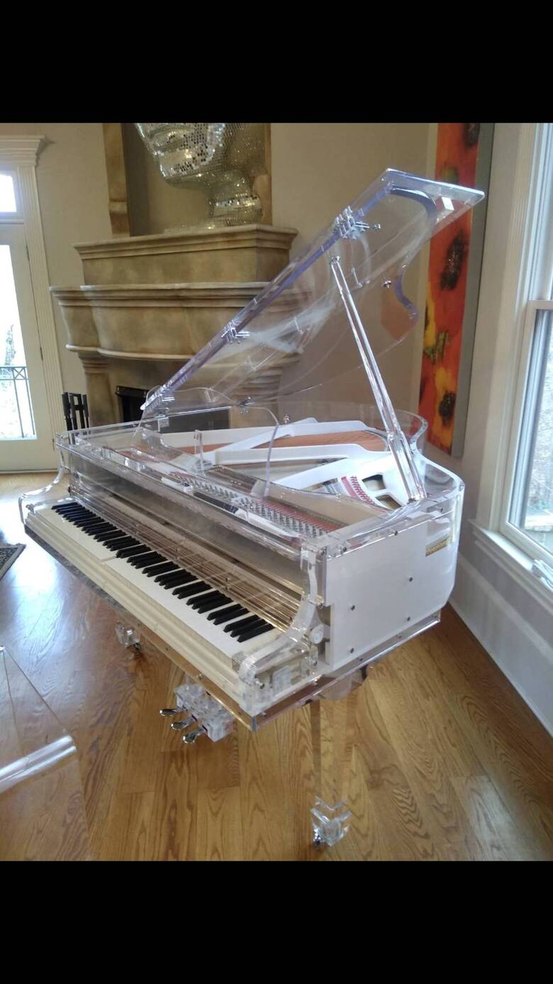 """Crystal Clear 5' 2"""" Grand Piano, Quality Product, can move"""