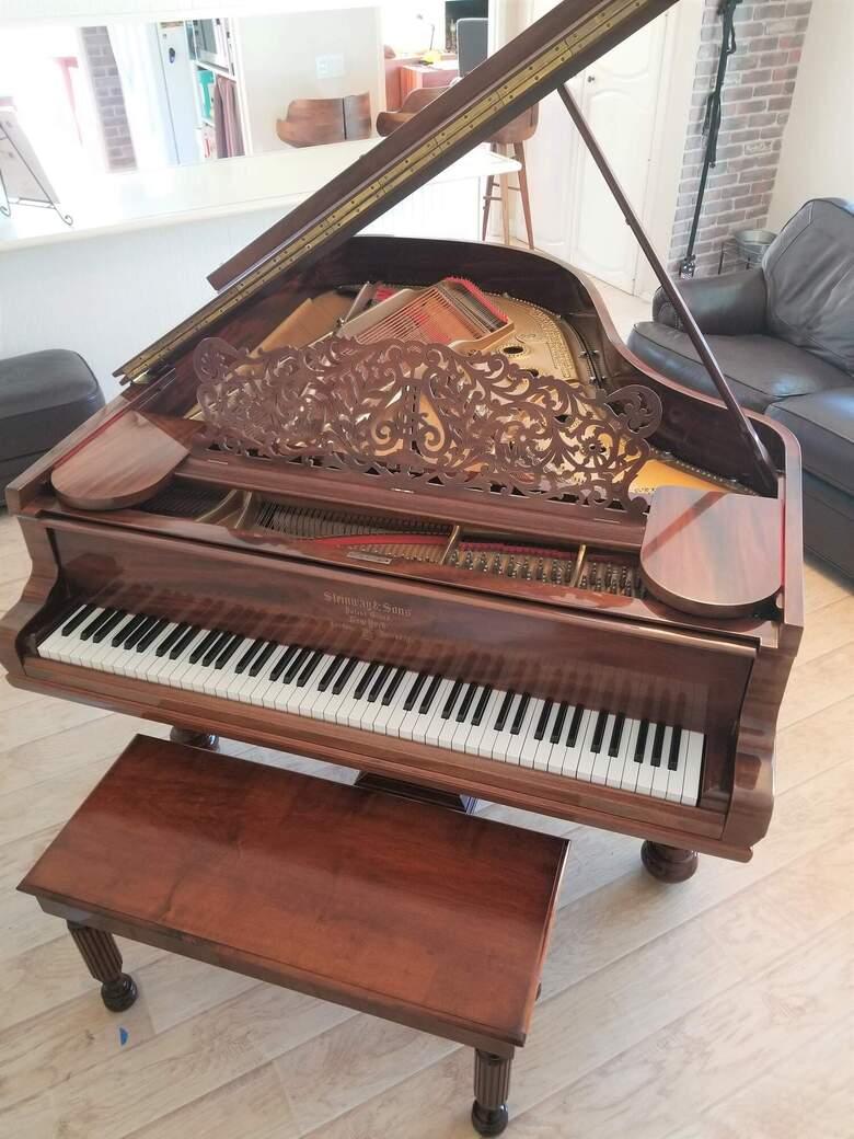 1897 Steiway Model A Grand Piano-Mahogany