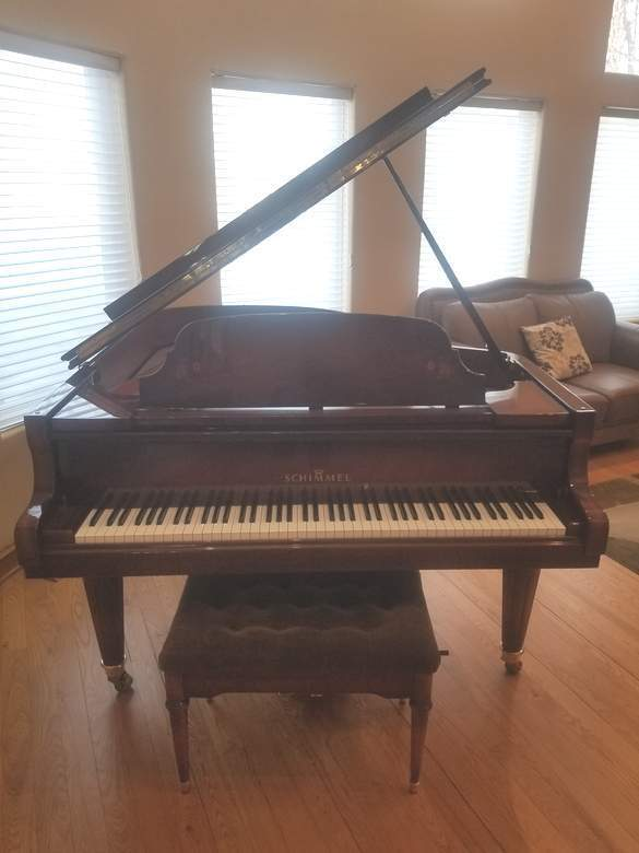 Very Rare Schimmel Grand Piano African Rosewood