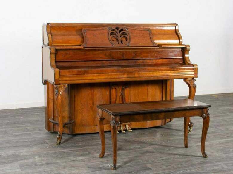 Astonishing Kimball upright piano & Steinway bench