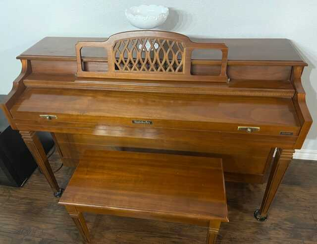 One Owner, Beautiful Cherry Wood Baldwin Upright Piano
