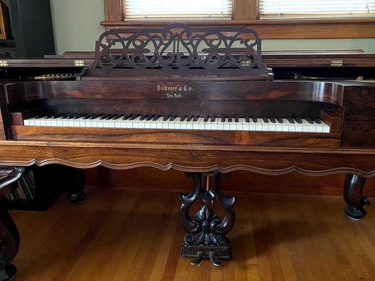RARE Square Grand Piano 1800s