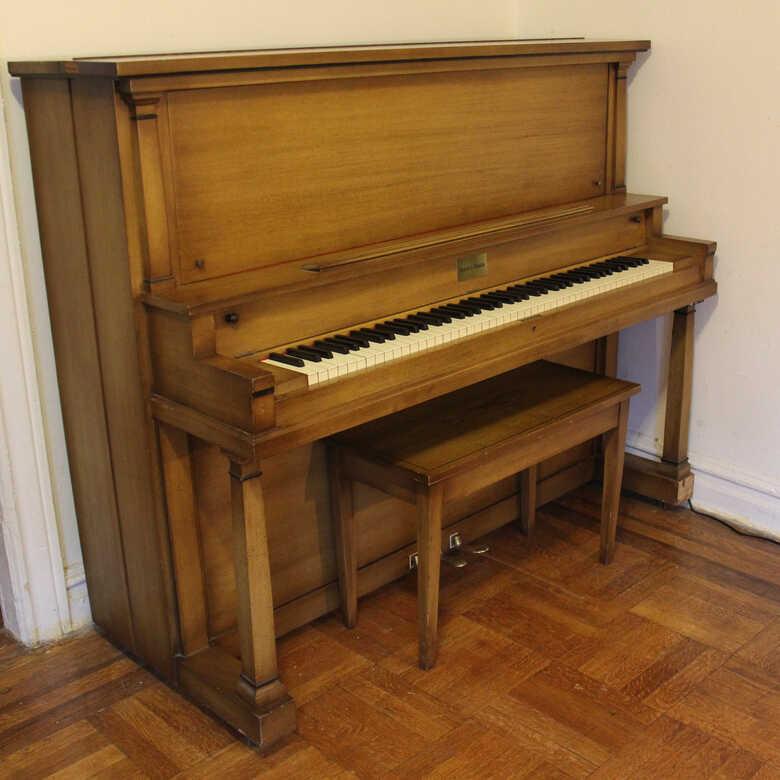 Restored Mason and Hamlin D Upright Piano