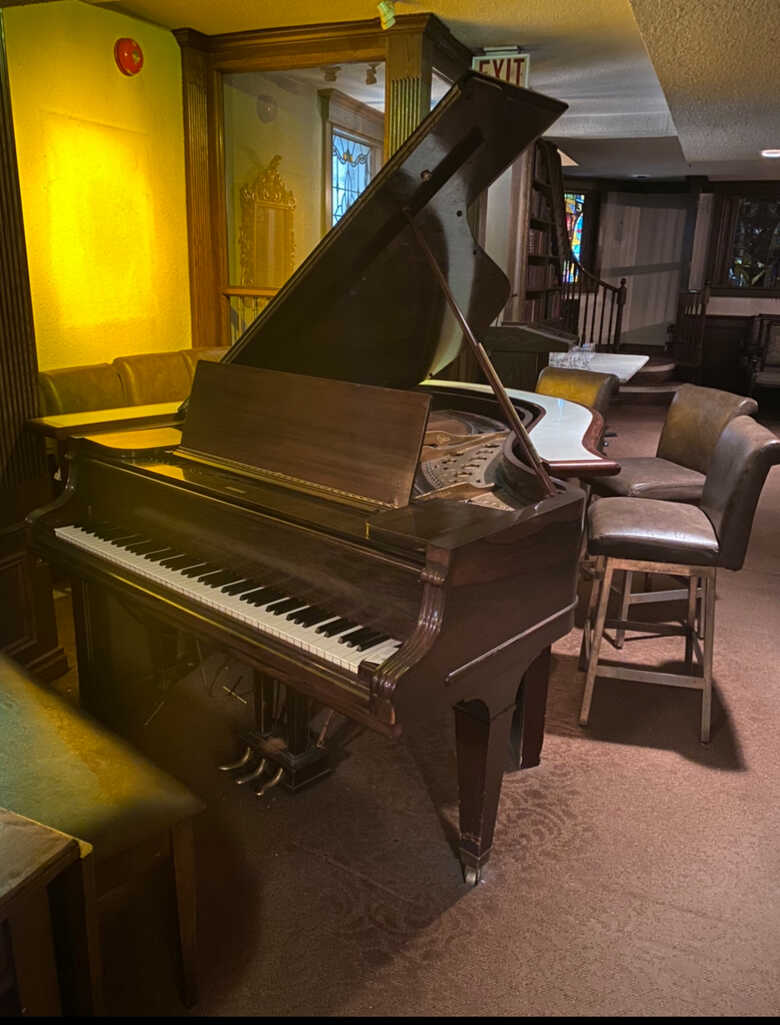 WM Knabe & Co Small Grand Piano With Freestanding Bar