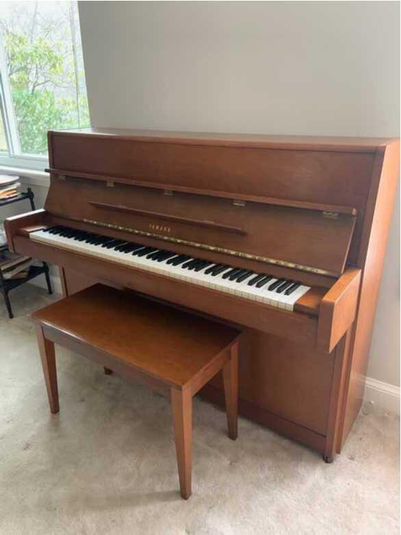 Yamaha upright piano - beautiful condition - satin walnut