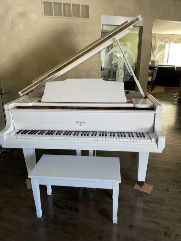 Beautiful Baby Grand White Piano