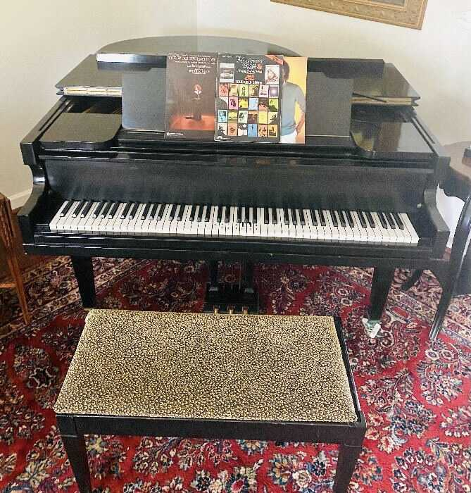 Vose & Sons Fully Restored Baby Grand Piano c. 1920's