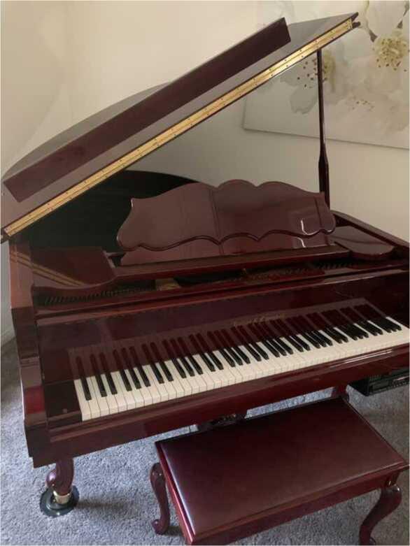 Mahogany Grand Piano