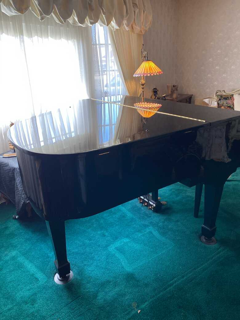 Black Lacquer Shafer & Sons Baby Grand Piano