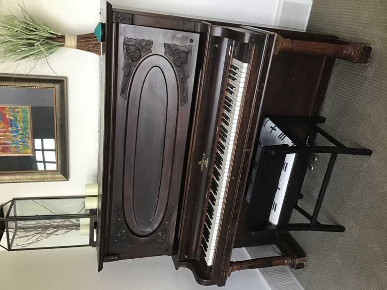 "54"" upright piano, good condition"