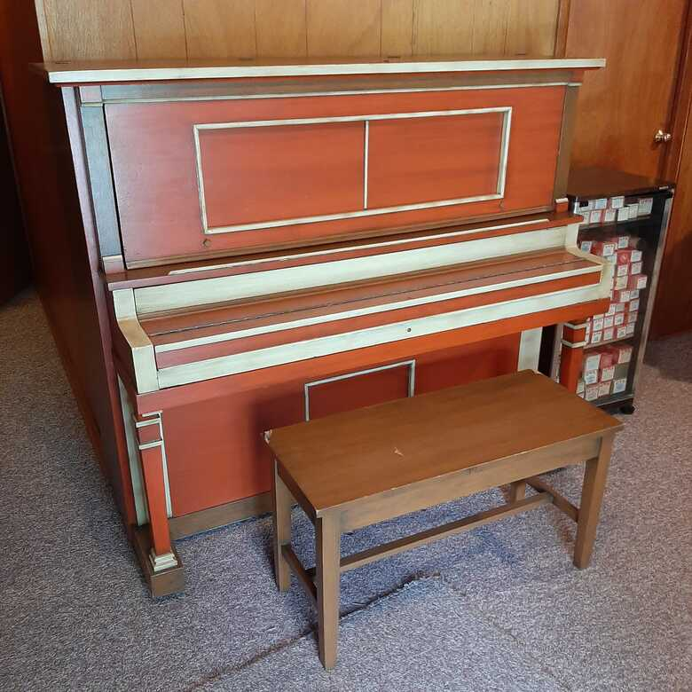 Player piano and music rolls