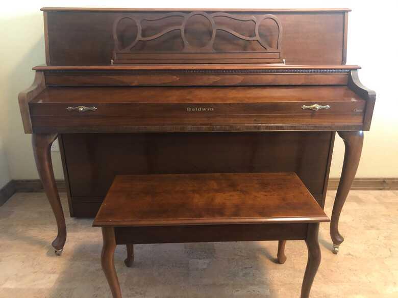 "BALDWIN ""CLASSIC"" CONSOLE PIANO - ORIGINAL OWNER"
