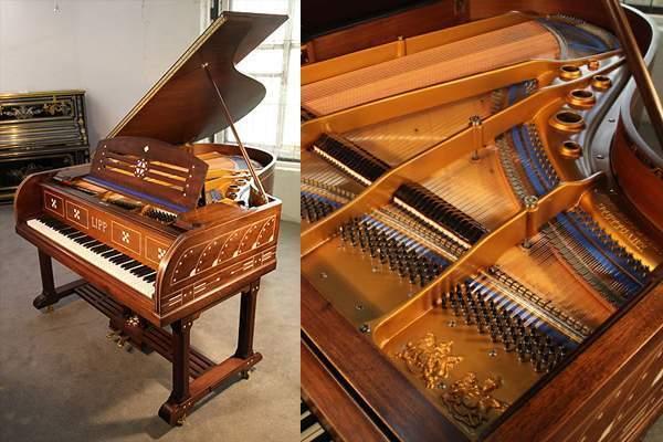 Arts and Crafts, Inlaid Lipp Grand Piano