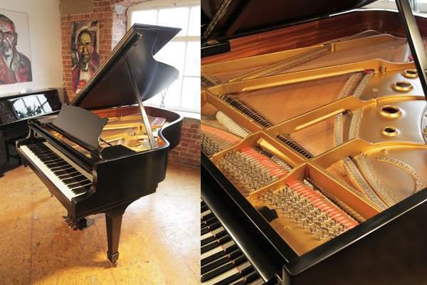 1972, Steinway Model A grand piano with a black case