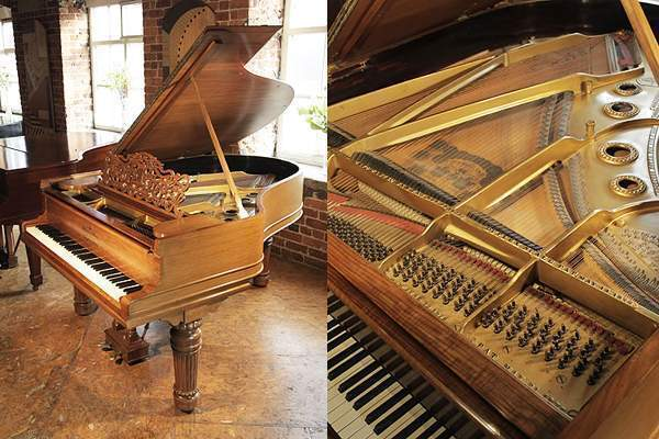 A1900, Steinway Model A grand piano with a walnut case