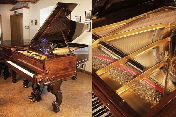 Rebuilt, 1877, Steinway Style 1 grand piano