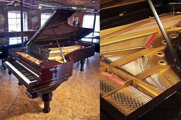 Rebuilt, 1886, Steinway model D grand piano in rosewood