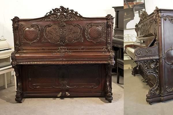 Rococo style, Francke upright piano