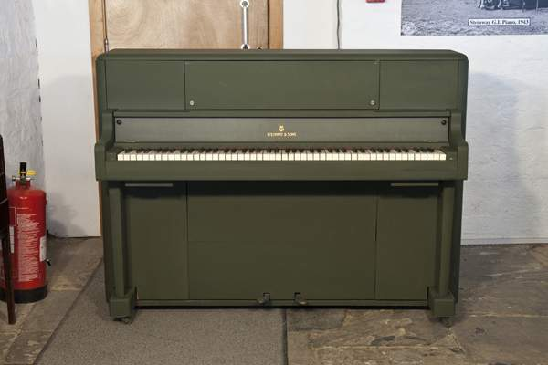 A 1945, Steinway 'Victory Vertical' G.I. upright piano