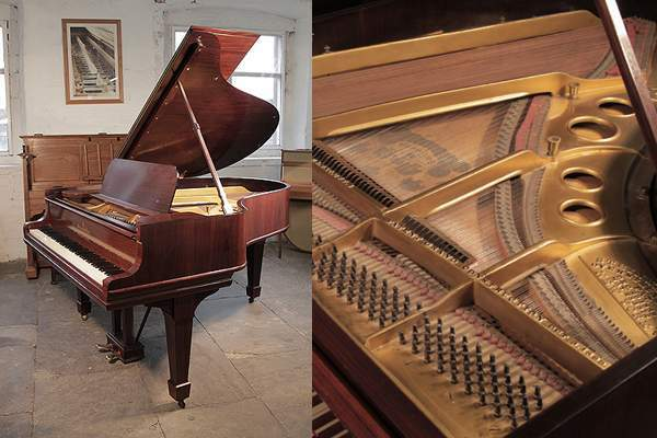 A 1911, Steinway Model O grand piano with a rosewood case