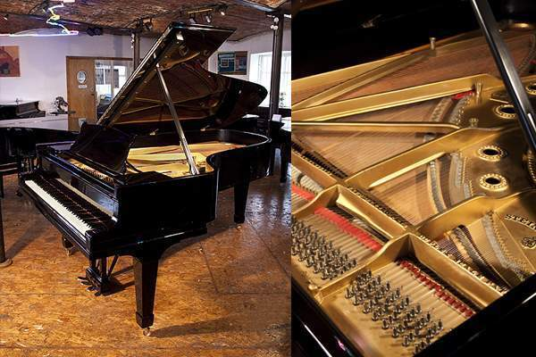 A 1925, Steinway Model C grand piano with a black case