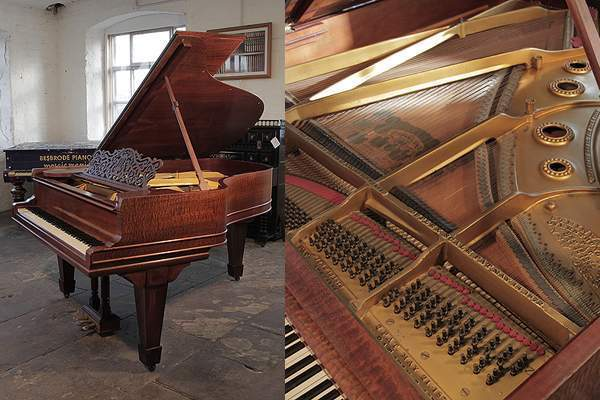 A 1908, Steinway Model A grand piano in pommele mahogany