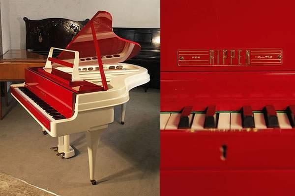 A 1959, Rippen grand piano in cherry and cream