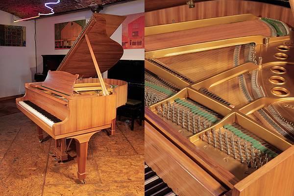 A 1966, Steinway Model S baby grand piano in walnut