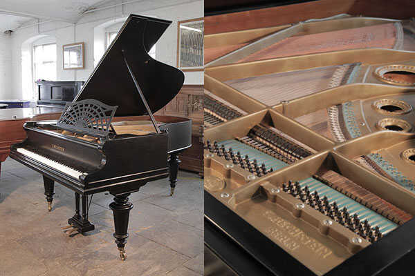 A 1900, Bechstein Model B grand piano in black