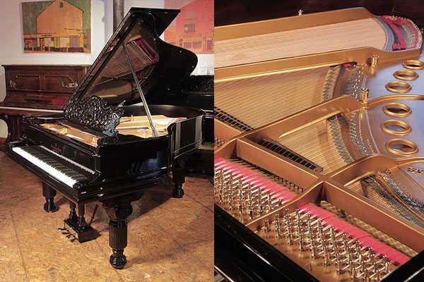 Rebuilt, 1886, Steinway Model A grand piano in black