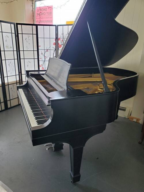 """Black Steinway A """"Shabby Chic"""" Refin. (VIDEO)Sonny'sPianos"""