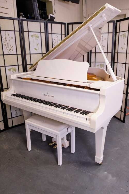 Young Chang White Gloss Baby Grand (VIDEO) Sonny's Pianos