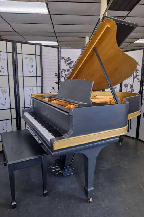 "Grey Steinway A 6'2"" w/Gold ShabbyChic Rebuilt 2021(VIDEO)"