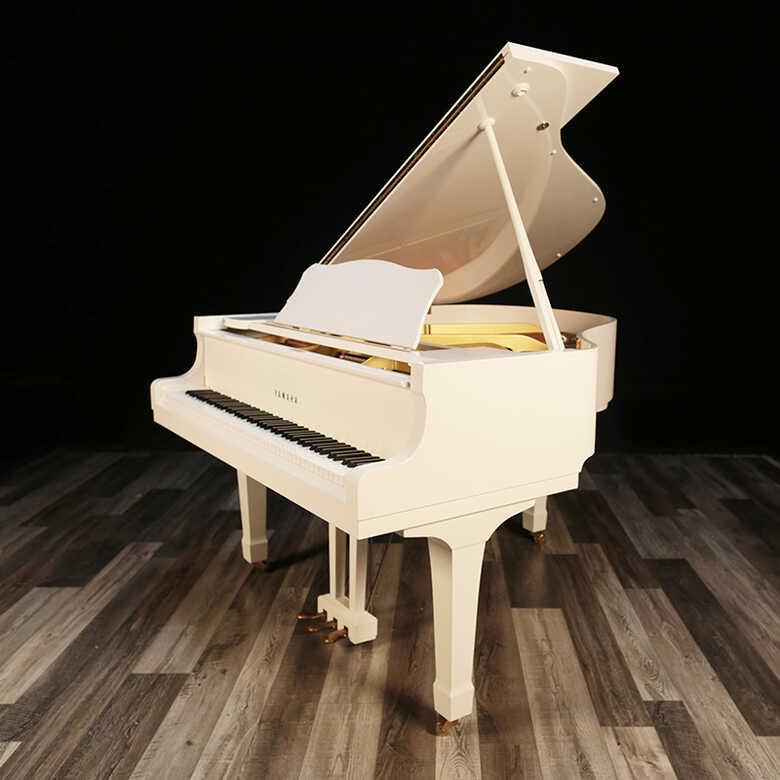 "5'3"" 1989 White Yamaha Grand Piano, Mint - Lindeblad Piano"