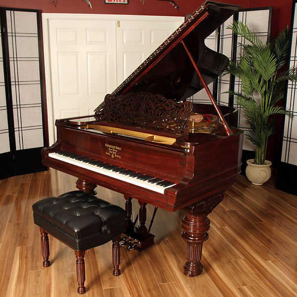 """Rosewood Victorian Steinway B, 6'10"""" - Restored by Lindeblad"""