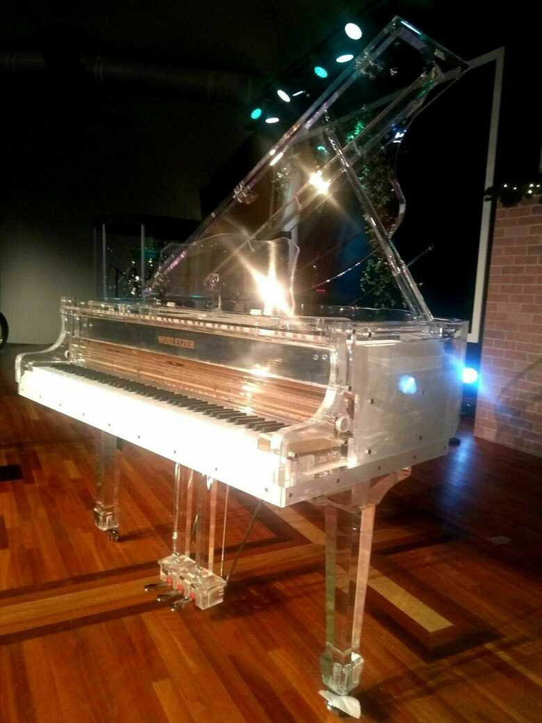 Luxurious transparent Crystal grand Piano Handcrafted