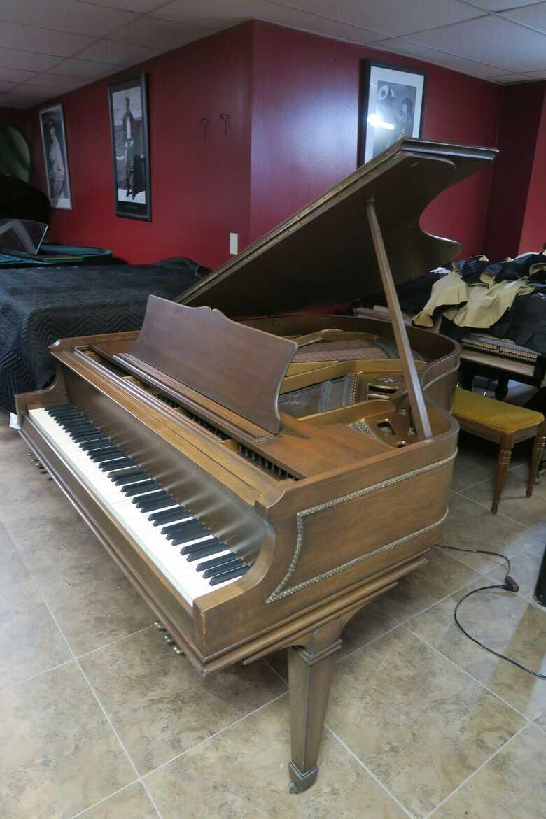 Classic Chickering baby grand piano & Steinway S stool.