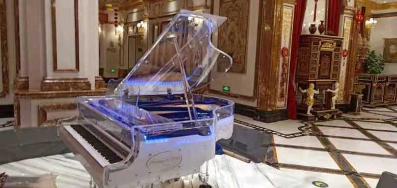 Astonishing transparent Crystal grand Piano